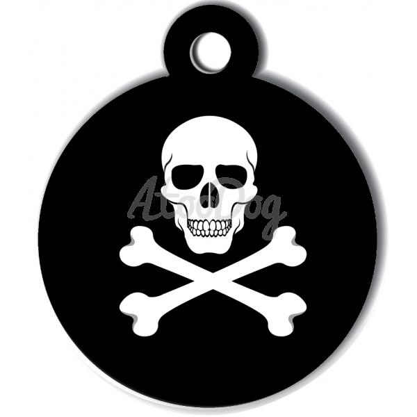 06836fffc383 medaille-chien-tete-mort-pirate.  medaille personnalisee chien lifestyle angel inside ange paradis bleu noir ailes auréoles dos