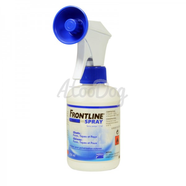 Spray frontline pour chien 100 ml - Spray anti puce chat ...