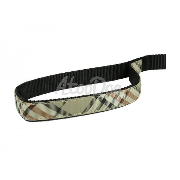 Laisse en nylon doublé tartan pour chien Karlie | AtooDog.fr