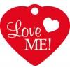 """Médaille chien """"Love me"""" rouge"""
