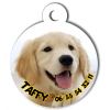 Medaille personalisee chien My Dog photo entière Taffy