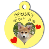 Medaille personalisee chien My Dog photo entière Scouby