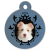 Medaille personalisee chien My Dog photo Portrait bleu