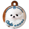 Medaille personalisee chien My Dog photo Cloclo