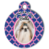 Medaille personalisee chien My Dog photo Bella