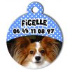 Medaille personalisee chien My Dog photo Ficelle