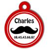 Medaille chien gravé Nam'Art Charles