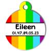 Medaille chien gravé Nam'Art Eileen
