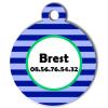 Medaille chien gravé Nam'Art Brest