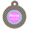 Medaille chien gravé Nam'Art Anna