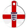 Médaille personnalisée drapeau England pour chien
