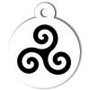 Médaille personnalisée pour chien drapeau Triskell