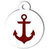 Médaille personnalisée chien Marine ancre rouge
