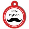 Médaille personnalisée chien Fashion Little Mylord moustache