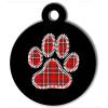 Médaille personnalisée chien Patoune fashion carreaux rouge