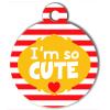 Médaille personnalisée chien Fashion I'm so cute