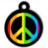 Médaille personnalisée chien Lifestyle peace and love noir