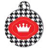 Médaille personnalisée chien Fashion couronne pied de poule
