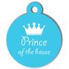 Médaille personnalisée chien Pastel prince bleue