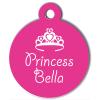 Médaille personnalisée chien Pastel princesse rose
