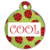 Médaille personnalisée chien Fashion coccinelle cool