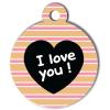 Médaille personnalisée chien Fashion I love you