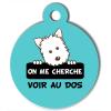 Médaille personnalisée chien On me cherche Atoo turquoise