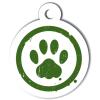 Médaille personnalisée chien Patoune simple verte