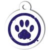 Médaille personnalisée chien Patoune simple bleue