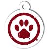 Médaille personnalisée chien Patoune simple rouge