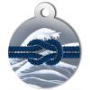 Médaille personnalisée chien Marine noeud bleu