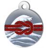 Médaille personnalisée chien Marine noeud rouge