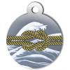 Médaille personnalisée chien Marine noeud jaune