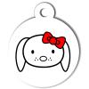 Médaille personnalisée chien Hi Doggy Mila rouge