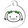 Médaille personnalisée chien Hi Doggy Lulu verte