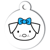 Médaille personnalisée chien Hi Doggy Frimousse bleue