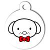 Médaille personnalisée chien Hi Doggy Doudou rouge
