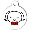 Médaille personnalisée chien Hi Doggy Loulou rouge