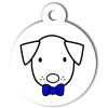 Médaille personnalisée chien Hi Doggy Mario bleu