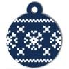 Médaille de Noël pour chien Flocon Bleu Pixels