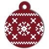 Médaille de Noël pour chien Flocon Rouge Pixels