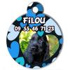 Médaille My Dog votre photo entière Coeurs Bleus