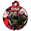 Médaille My Dog votre photo entière Coeurs Rouges
