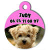 Medaille personalisee chien My Dog photo entière Judy