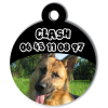 Medaille personalisee chien My Dog photo entière Clash