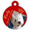 Medaille personalisee chien My Dog photo entière Marly