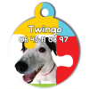 Medaille personalisee chien My Dog photo entière Twingo