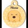 Médaille personnalisée chien frisé abricot