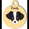 Médaille personnalisée chien noir et blanc
