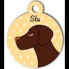 Médaille personnalisée chien marron foncé